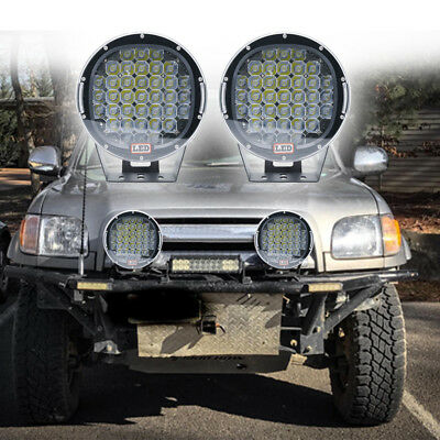 9inch 99999W CREE Black Round Work LED Driving Light Spotlights Offroad 4x4 SUV