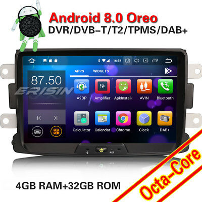 """8"""" Android8.0 GPS DAB+ OBD DTV Autoradio Renault Dacia Duster Logan Dokker Lodgy"""