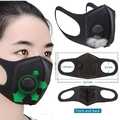 2/5pack New Washable Valved Dust Mask Respirator Reusable n Comfortable Wear UK