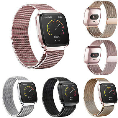 Luxury Milanese Loop Band Strap Stainless Steel Strap For Fitbit Versa New
