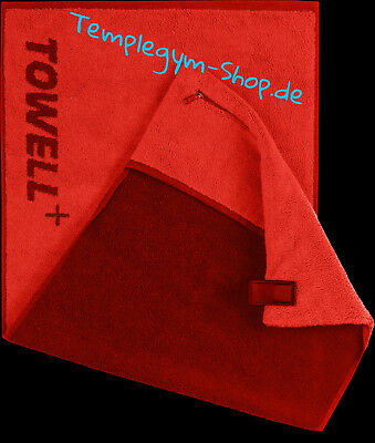 Towell plus Sporthandtuch Fitness  40x90cm Stryve Rot OVP + BioTech USA T-Shirt