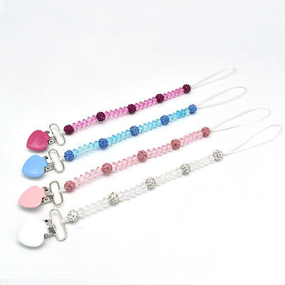 Baby Pacifier Clip Metal Chain Soother Nipple Holder For Infant Feeding Teether