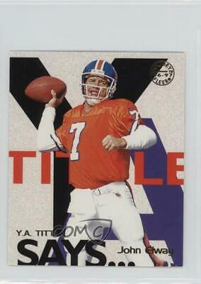 1997 Fleer Goudey YA Tittle Says #7 John Elway Denver Broncos Football Card