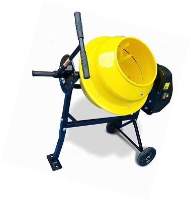 Cement Mixer cm46 240v 300w 35rpm Electric Portable Mortar Concrete - 46L