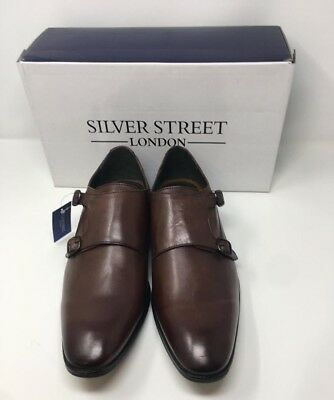SILVER STREET LONDON Bourne Leather Shoes - Brown UK 7 - UK 12