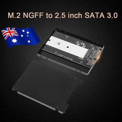 "AU M.2 NGFF to 2.5"" SATA 3.0 SSD Enclosure Adapter for 2280mm Solid State Hard"