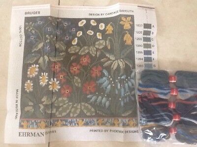 Ehrman Candace Bahouth BRUGES  Cushion Kit And Wools, New, Tapestry