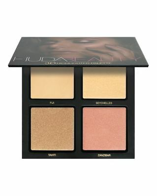 New Genuine Huda Beauty 3D Highlighter Palette PINK SANDS Edition Make Up - UK