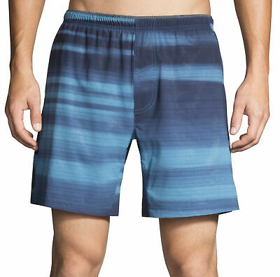 Brooks Sherpa 7 Inch Mens Running Shorts Blue Gym Training Sports Short