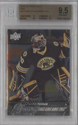 2015 Upper Deck Young Guns Silver Foil Board Malcolm Subban #211 BGS 9.5 Rookie