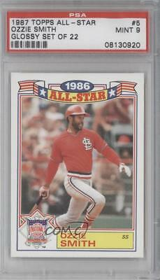 1987 Topps Rack Pack Glossy All-Stars #5 Ozzie Smith PSA 9 MINT Baseball Card