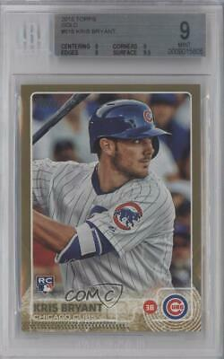 2015 Topps Gold/2015 #616 Kris Bryant BGS 9 MINT Chicago Cubs Rookie Card