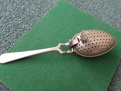 One Very Nice Vintage Silver Plated Tea Strainer ( E P N S)