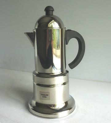 2 Cup Vev Vigano Inox 1810 Stainless Steel Stove Top Coffee Maker