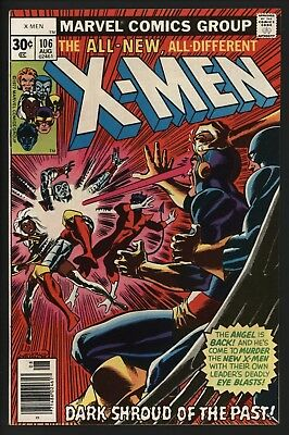 X-Men #106 Aug 1977 The Angel Vs The X-Men Non Distributed In The Uk