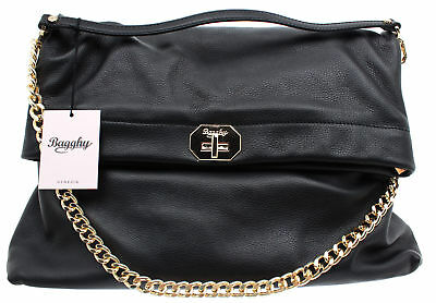 BAGGHY VENEZIA BORSA Donna Top Handle B35 Mousse Pelle Nera