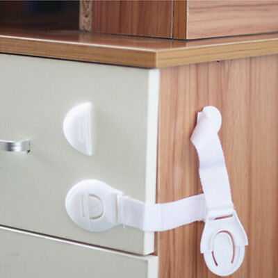 10PCS Drawer Door Cabinet Cupboard Baby Safety Locks For Kids Protection PC