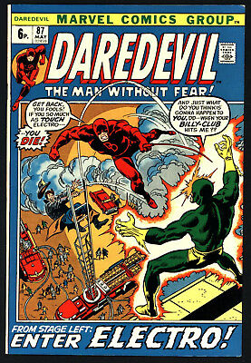 Daredevil #87. Black Widow Appears.gene Colan Art, White Pages, Glossy Cover