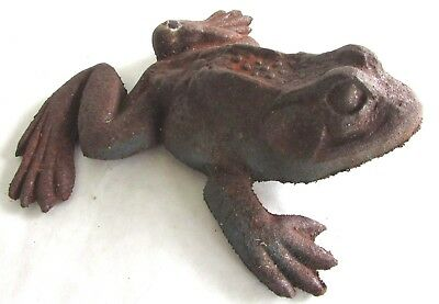 Large Antique Vintage Cast Iron Frog Sculpture - Garden Ornament