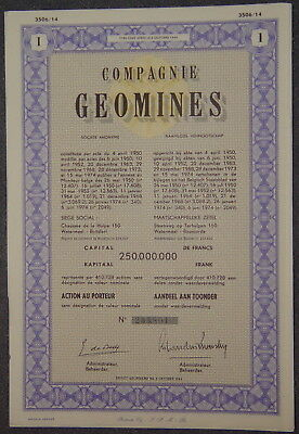 Compagnie Geomines Societe Anonyme 1974