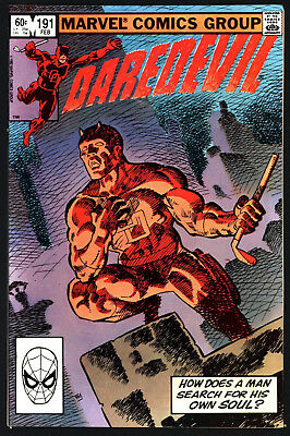 Daredevil #191 Russian Roulette With Bullseye! White Pages, Glossy!