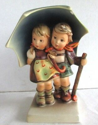 """Vintage Hummel #71 - Stormy Weather - 1950s Full Bee - 6 1/2"""" Tall - Has a Chip"""