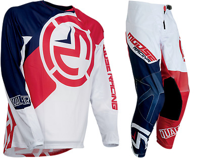 New Qualifier Moose Racing Red White Blue Adult Mx Offroad Jersey Pants Combo