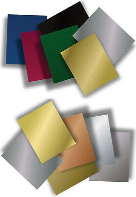 """12"""" x 24"""" Color Coated Anodized Aluminum Sheet Metal Plate Double Sided .025"""""""