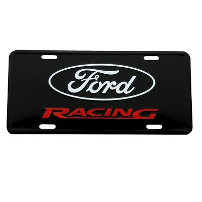 Ford Racing License Plate Embossed Black Aluminum Metal Car Truck Auto Tag Sign