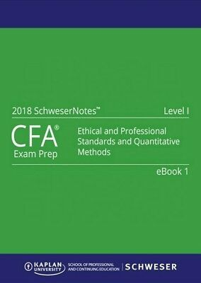 CFA Level 1 2018 Schweser Notes Books 1 - 5 + Exam Quicksheet