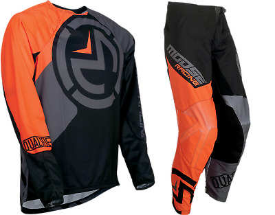 New Qualifier Moose Racing Black Orange Adult Mx Offroad Jersey Pants Combo