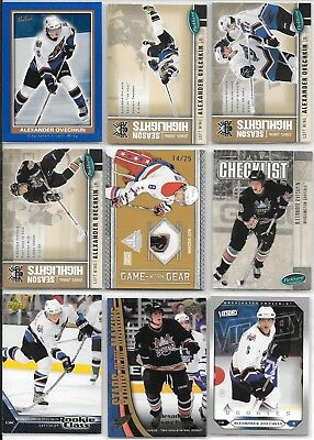 U PICK'EM LOT (150+) Alex Ovechkin RC Jersey Insert AUTO PATCH Collection Cards