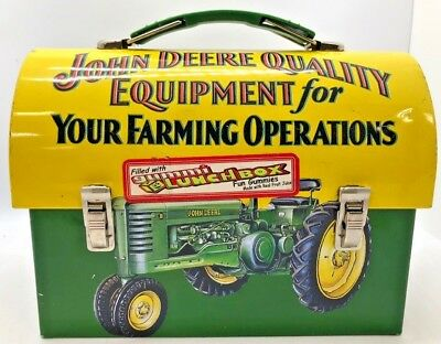 Collectible Advertising John Deere Gummi Lunch Tin Box