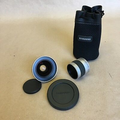 Samsung Wide Conversion lens SCL-W3755 and adapter SLA3537 in case with covers