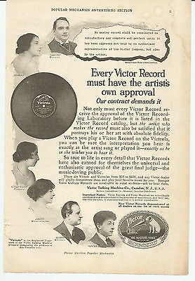 Vintage, Original, 1918 - Victor Records Advertisement - Music