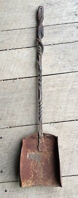 Vintage Antique Hand Forged Wrought Iron And Metal Fireplace Shovel