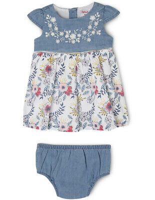 NEW Sprout Girls Dress with Bloomer Denim