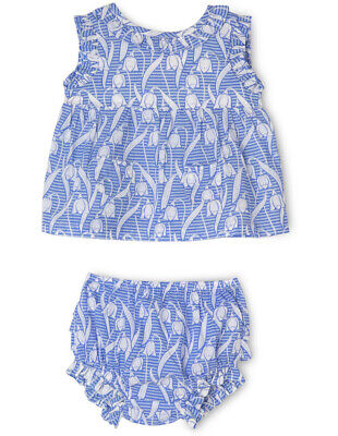 NEW Jack & Milly Sophie Frill 2 Piece Set with Pockets - Blue Snowdrop