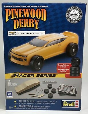 Pinewood Derby 2017 Chevy Camaro SS Racer Kit Pinecar RMXY9453 Boy Scouts Approv