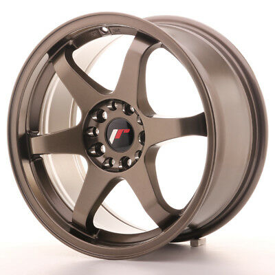 "Un Cerchio in Lega Japan Racing JR3 17"" x 8"" ET35 5 x 100 / 114 Bronzo Bronze"