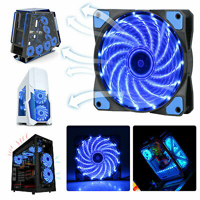 Lot 120mm 15 LED Cooling Case Fan for PC Computer Quiet Edition CPU Cooler Blue
