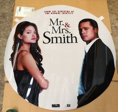 MR AND MRS SMITH Vinyl PROMO Movie Poster See Pics Rare Pitt Jolie Mint