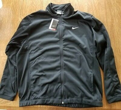 Nike Golf Therma-Fit Stay Warm Mens Full Zip Jacket Size Xl Black 417718 010 8a3ea9f969f