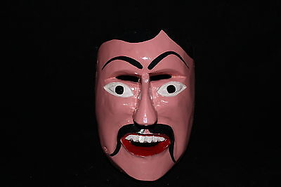 179 FACE DANCE MEXICAN WOODEN MASK mascara danza artesania authentic characters