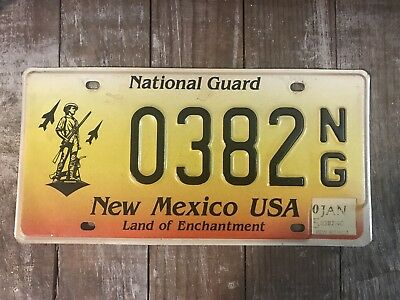 New Mexico National Guard License Plate