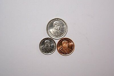 3 DIFFERENT COINS from MAURITIUS - 5 & 20 CENTS & 1/2 RUPEE (ALL DATING 2007)