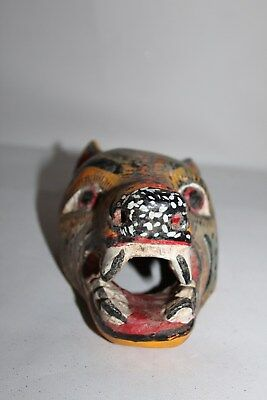 491 MINI COYOTE MEXICAN WOODEN MASK WALL DECOR HAND CARVED crafted artesania