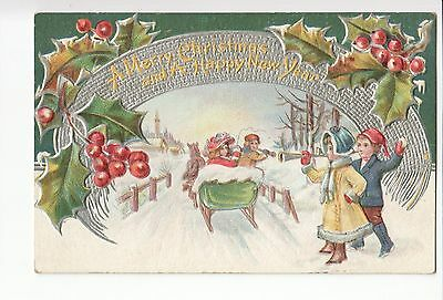 Vintage Postcard - A Merry Christmas and a Happy New Year. 1900s - 1910s