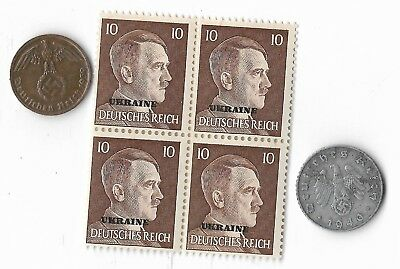 Original Rare Old German wwii ww2 Germany Coin Stamp Great War Collection Europe