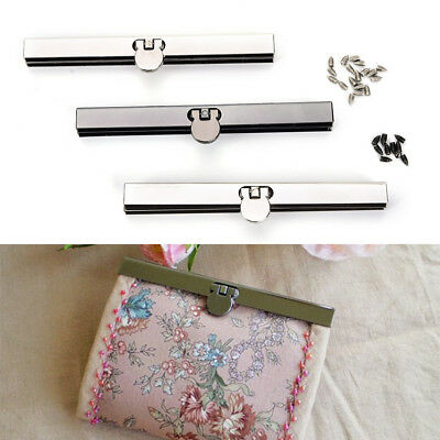 11.5cm Purse Wallet Frame Bar Edge Strip Clasp Metal Openable Edge Replacem GN